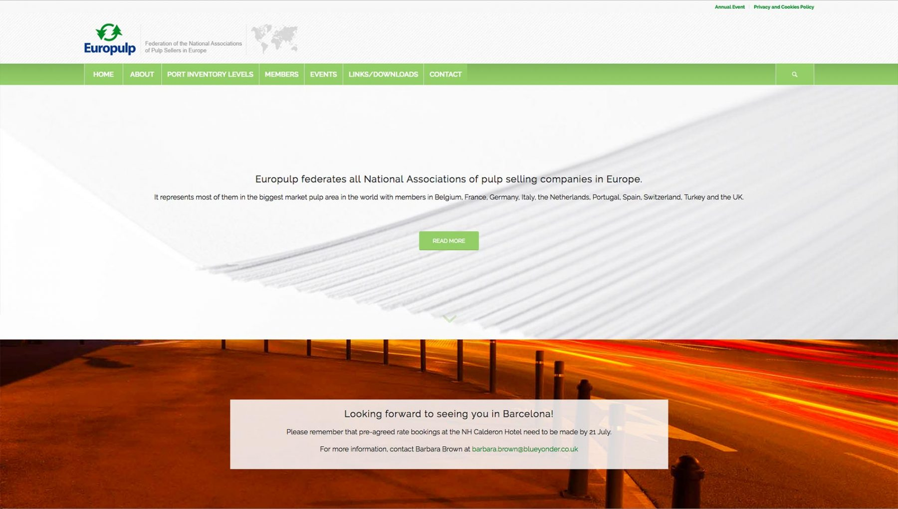 Europulp Homepage Baldanello e Ilari web-design