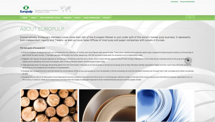Europulp About Baldanello e Ilari web-design
