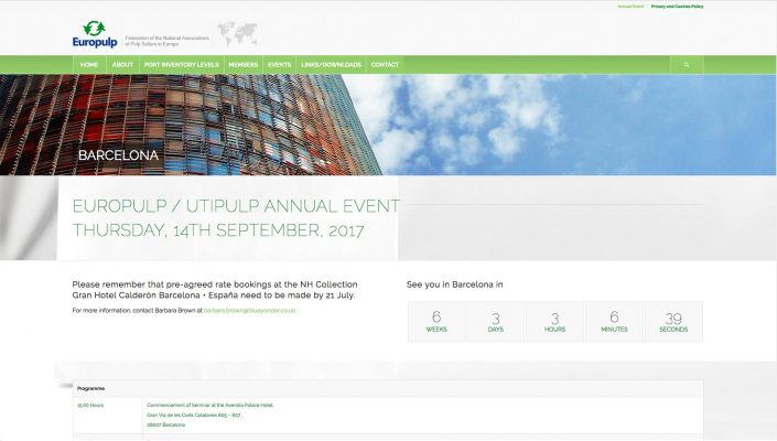 Europulp Annual Event Baldanello e Ilari web-design