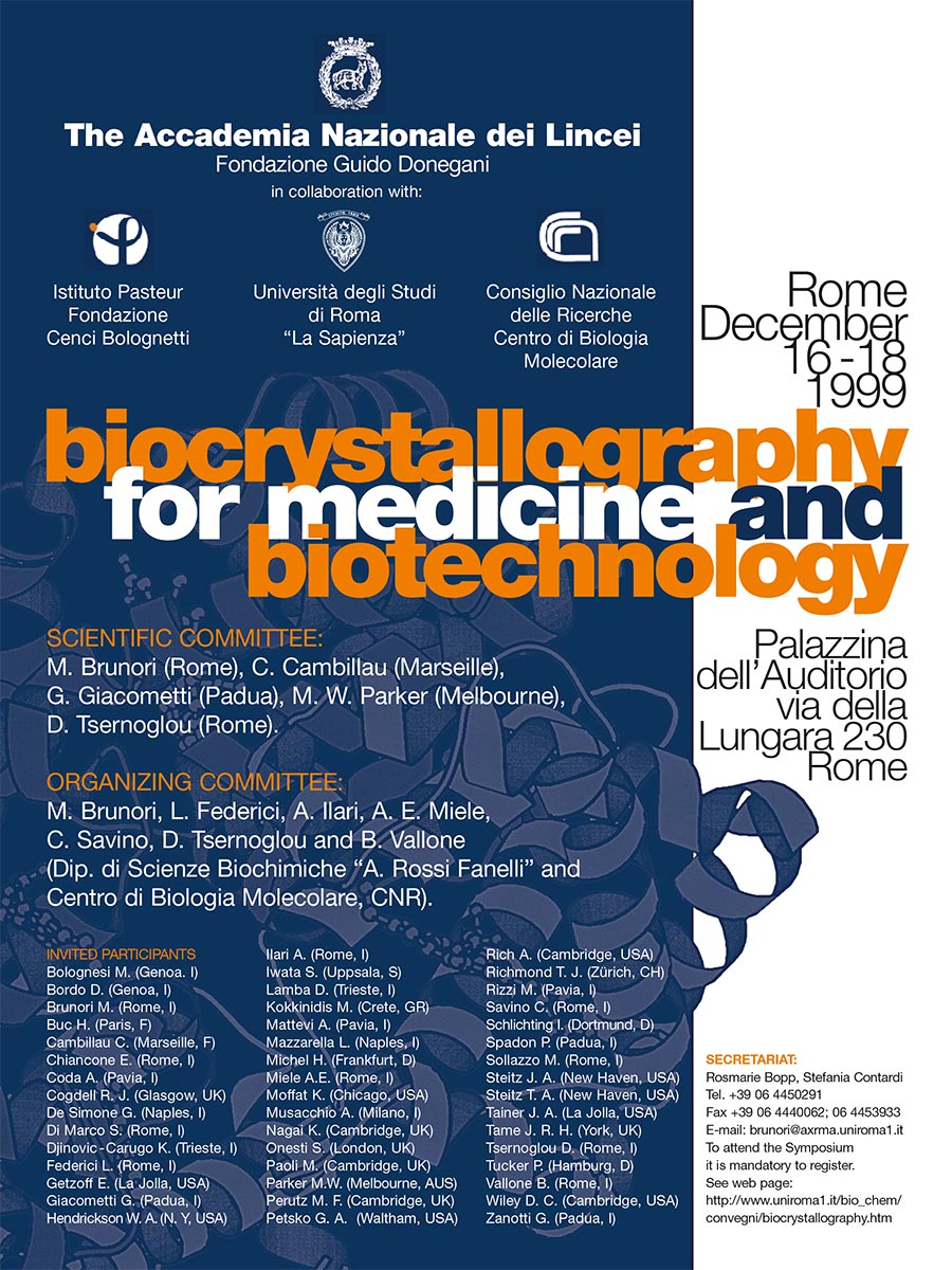ISTITUTO PASTEUR Biocrystallography and Biotechnology Locandina