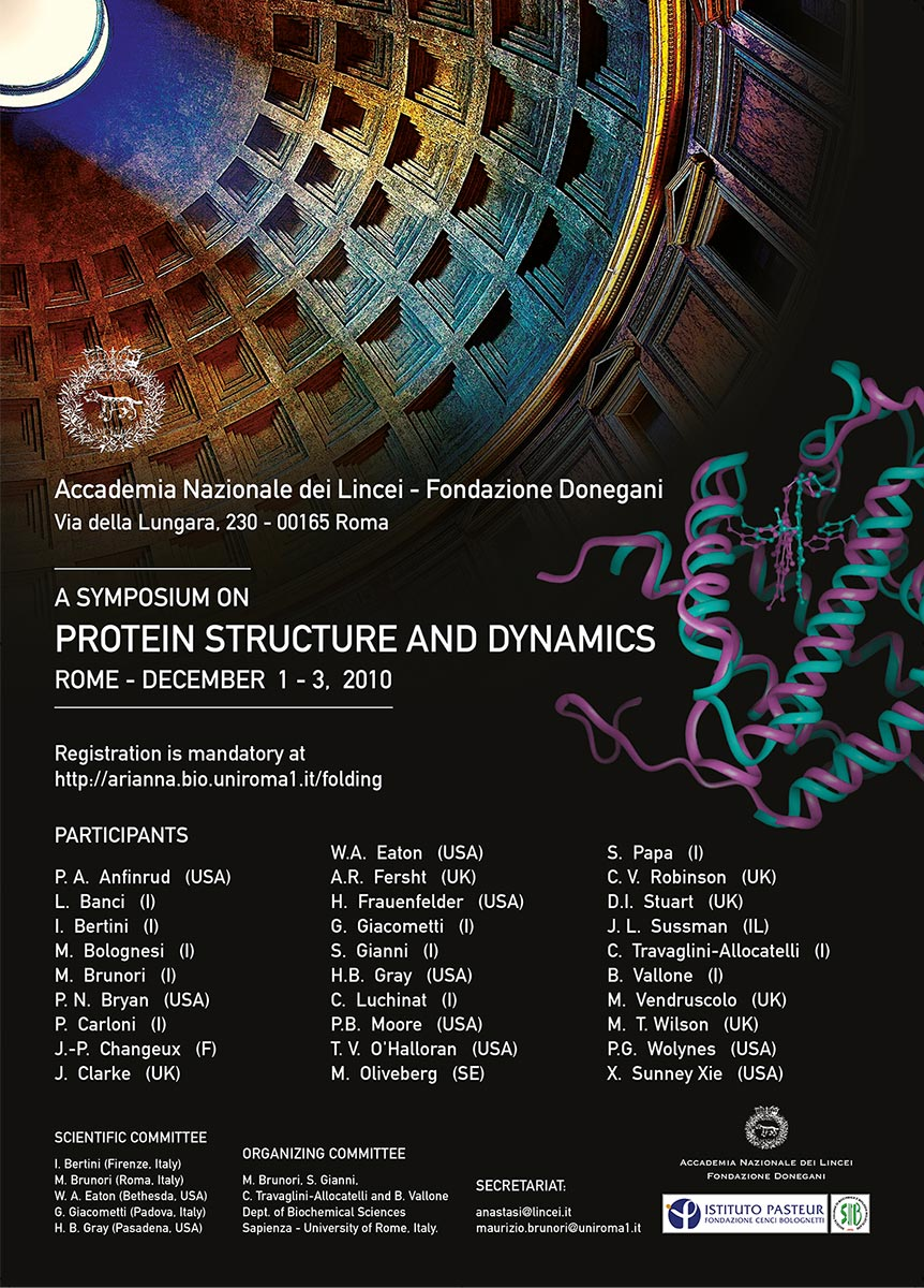 LINCEI Protein Structure and Dynamics Locandina