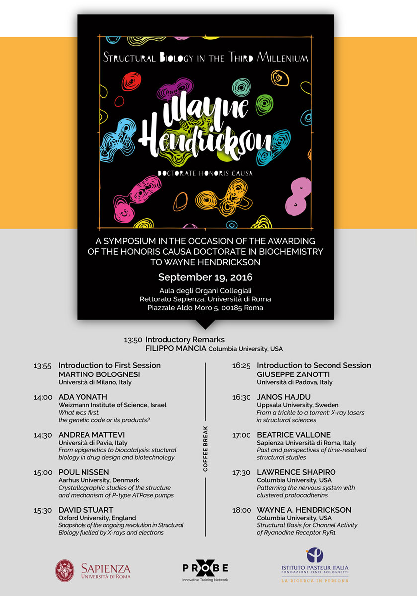 Sapienza Symposium Wayne Hendrickson Locandina