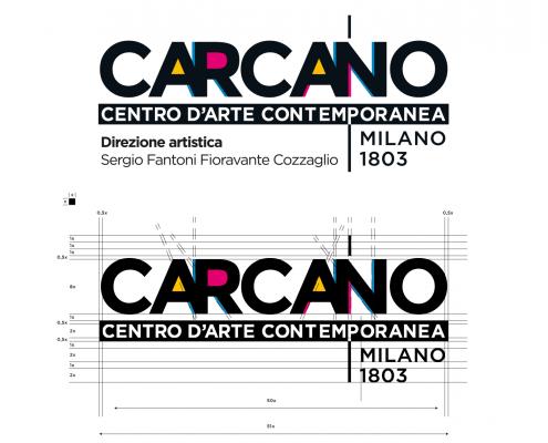 TEATRO CARCANO Centro d'Arte Contemporanea Logo design Baldanello e Ilari