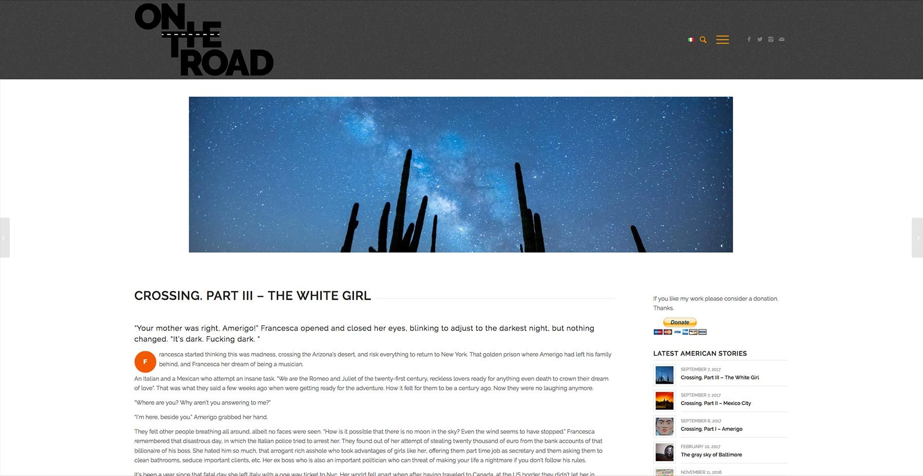 On The Road Blog di Mariagrazia De Luca
