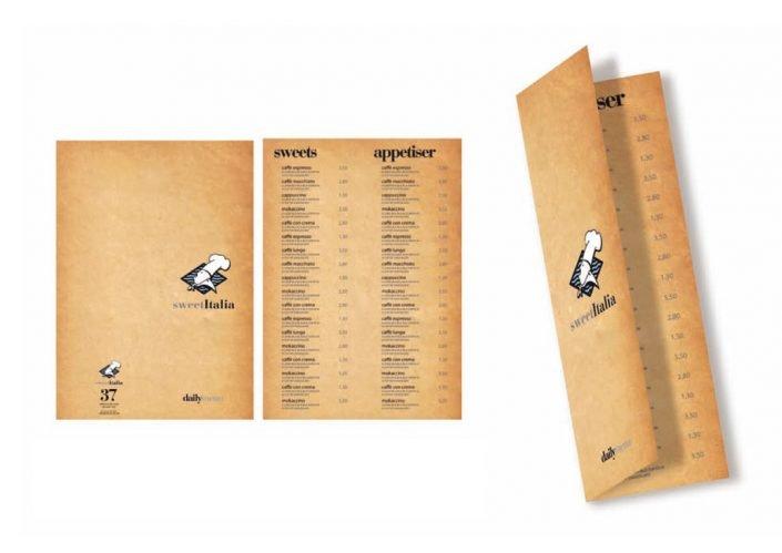 SWEETITALIA table menu