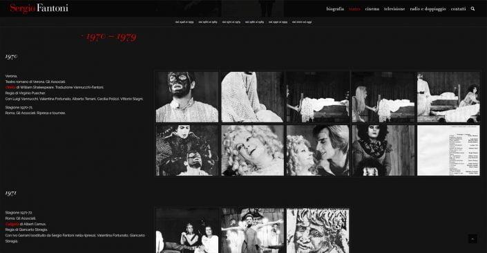 sergiofantoni.it uno spaccato di 50 anni dello spettacolo attraverso la vita di Sergio Fantoni