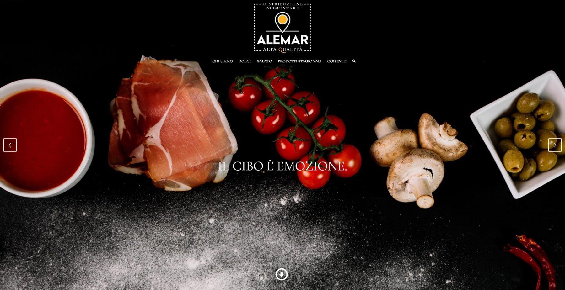 Sito Web Alemar Distribuzione Alimentare
